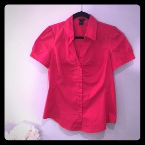 Ann Taylor size 6 pink button down blouse