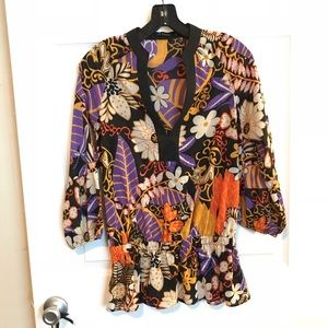 Abstract Patterned Blouse