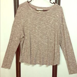 Forever 21 Plus Purple Marbled Henley Sweater 2X