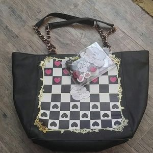 (72A) NWOT Betsey Johnson Check Me Out Tote