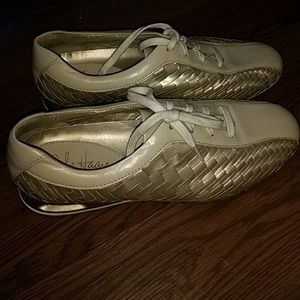 NWOT Gold Cole Haan Nike Air sneakers braided
