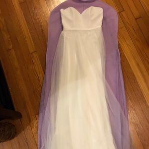 Allure Wedding Dress, never worn, 2 pieces, ivory