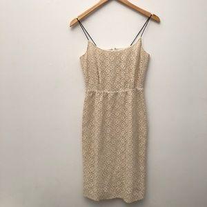 J. Crew Lace Blouson Dress in Beige EUC 00