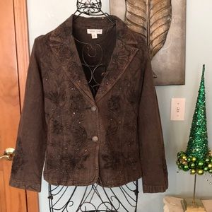 ColdWater Creek brown jacket