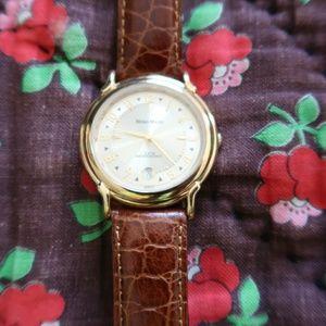 Brown leather fancy watch