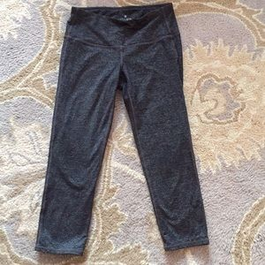 Athleta cropped gray work out pants
