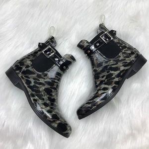 [Halogen] Cano Rain Booties Studded size 7