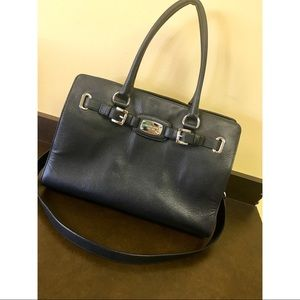 AUTHENTIC Michael Kors black leather satchel