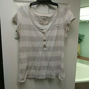 Abercrombie striped short sleeve top