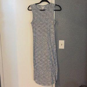 White & navy blue dress