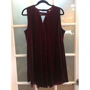 NWT burgundy velvet tent dress