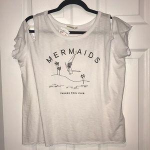 🆕NWT🆕 Mermaids Cannes Pool Club open shoulder T