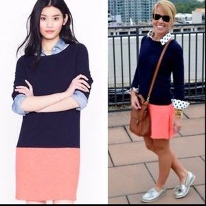 J. Crew Color Block Cotton Dress with Side Zips XS