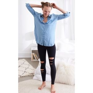 Aerie Chill high Waisted Legging with Slash Detail