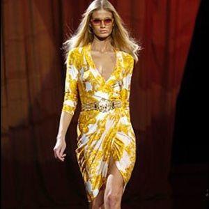 Versace Logo Dress Couture 2005 Runway Show