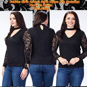 Black Lace Choker Plus Size Chokers