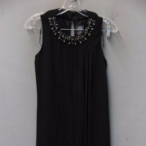 Vince Camuto Sleeveless Dress Black Embellished