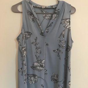 Light blue floral blouse
