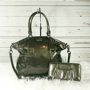 Coach Lindsey Madison Large Satchel and Wallet