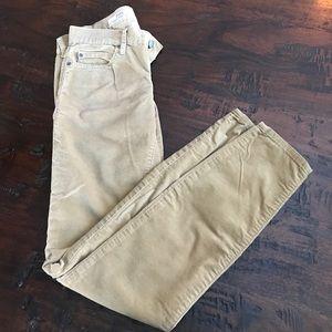 Gap corduroy legging jeans, size 25/0R, khaki