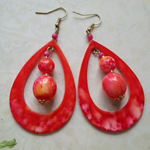Groovy 1960's Hot Pink Hippy Hoops