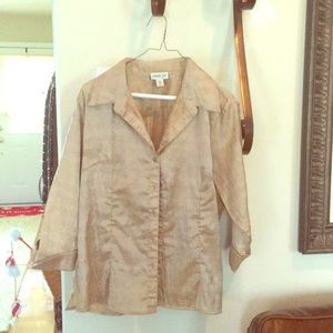Coldwater Creek Gold blouse