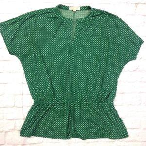Michael kors printed peasant top BOHO blouse shirt