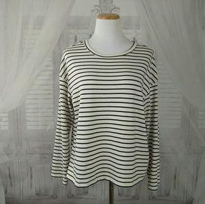 Zara Trafaluc Striped Long Sleeve Top