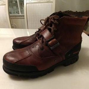 24HR SALE🎇 Leather Ralph Lauren Polo men boots