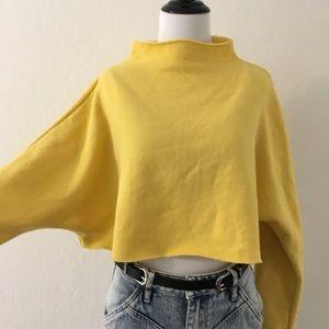 NWT Urban Outfitters Yellow Crop Sweatshirt