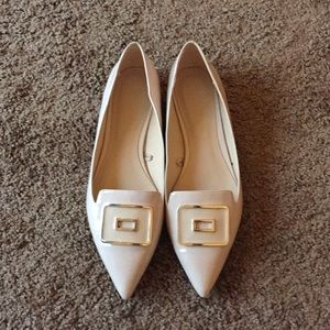 Nude Flates with Buckle Detail!