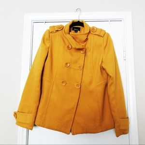 Forever 21 Yellow Winter Peacoat