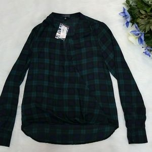 Nwt The Limited Plaid Top