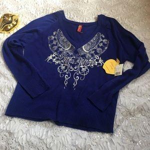 NWT apple bottom 1x blue sweater