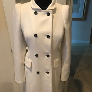 Zara winter white•double breasted beautiful coat