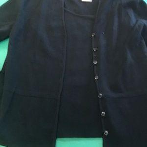 Talbots cardigan and matching sleeveless shell