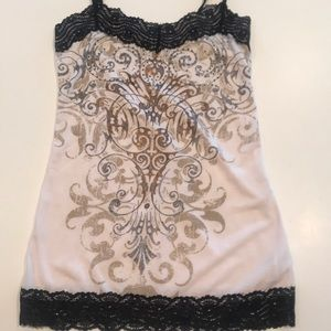 Maurice's lace and sparkle cami