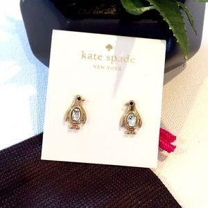 """NEW Kate Spade """"Fancy Penguin"""" Earrings"""