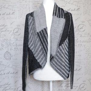 Cabi #483 Open Cardigan Sweater Gray Black L
