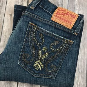 Lucky Brand Jeans Embroidered Boot 4 27 x 29