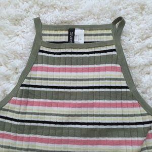 H&M Striped Sweater Tank