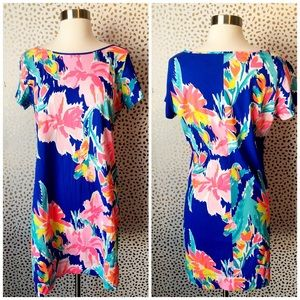 Lilly Pulitzer Parrot Tropical Cotton TShirt Dress