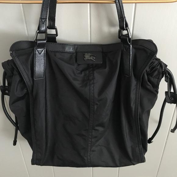 Burberry Handbags - Burberry Buckleigh nylon leather trim tote 94ea57e40335a