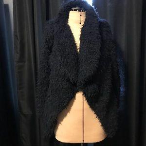 Zara Basic Shaggy Navy Sweater/Jacket