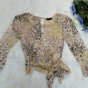 BCBG MaxAzria Silk Wrap Crop Top
