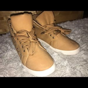 Wheat Colored High Tops