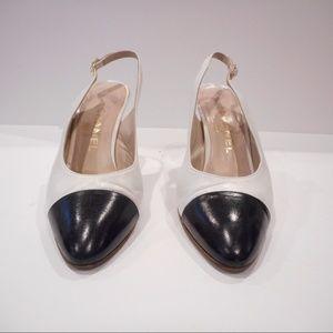 Chanel Vintage Slingback Captoe heels size 8.5