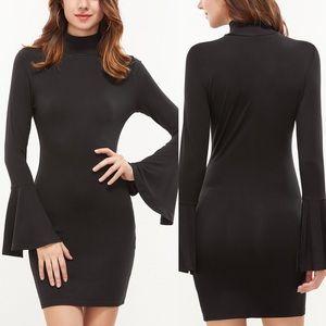 🆕💧High neck bell sleeve bodycon dress