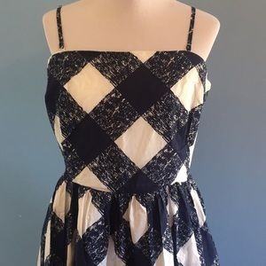 Boden Navy & White Dress