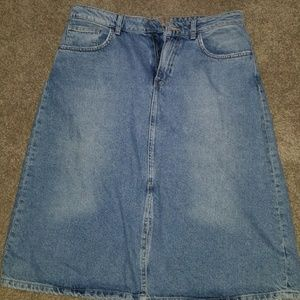 ZARA Knee Length Denim Skirt
